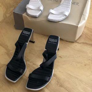 Charles Jourdan Heel Set Black n' White - Size 6.5